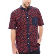 The Foundry Supply Co.™ Printed Short-Sleeve Woven Shirt - Big & Tall