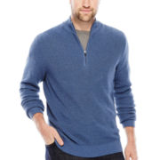 IZOD® Quarter-Zip Marled Shaker Sweater - Big & Tall