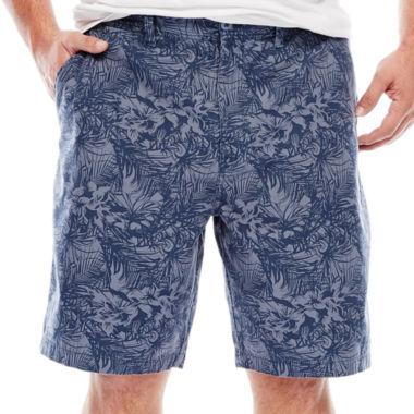 jcpenney.com | The Foundry Supply Co.™ Printed Flat-Front Shorts - Big & Tall
