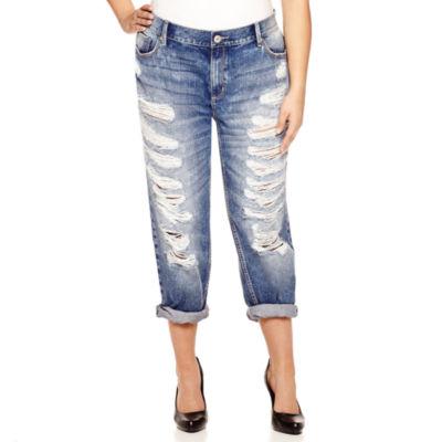Destructed Jeans Plus Size