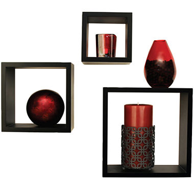 3 pc nested wall decor cube set jcpenney - Cube wall decor ...