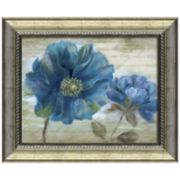 Blue Poppy Poem Framed Wall Art