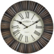 Hewn Burst Wall Clock
