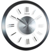 Modish Gunmetal Wall Clock