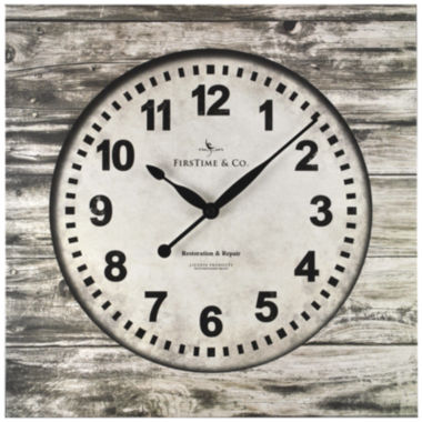 jcpenney.com | FirsTime® Weathered Square Wall Clock