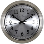 Sleek Steel Wall Clock