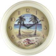Beach Plastic Wall Clock