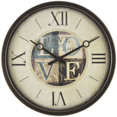 jcpenney.com | Live Laugh Love Wall Clock