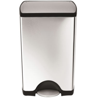 jcpenney.com | simplehuman® 38-Liter Rectangular Stainless Steel Step Trash Can