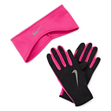 jcpenney.com | Nike® Therma-FIT Fleece Running Headband and Glove Set