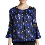 Alyx® Bell-Sleeve Animal Print Top