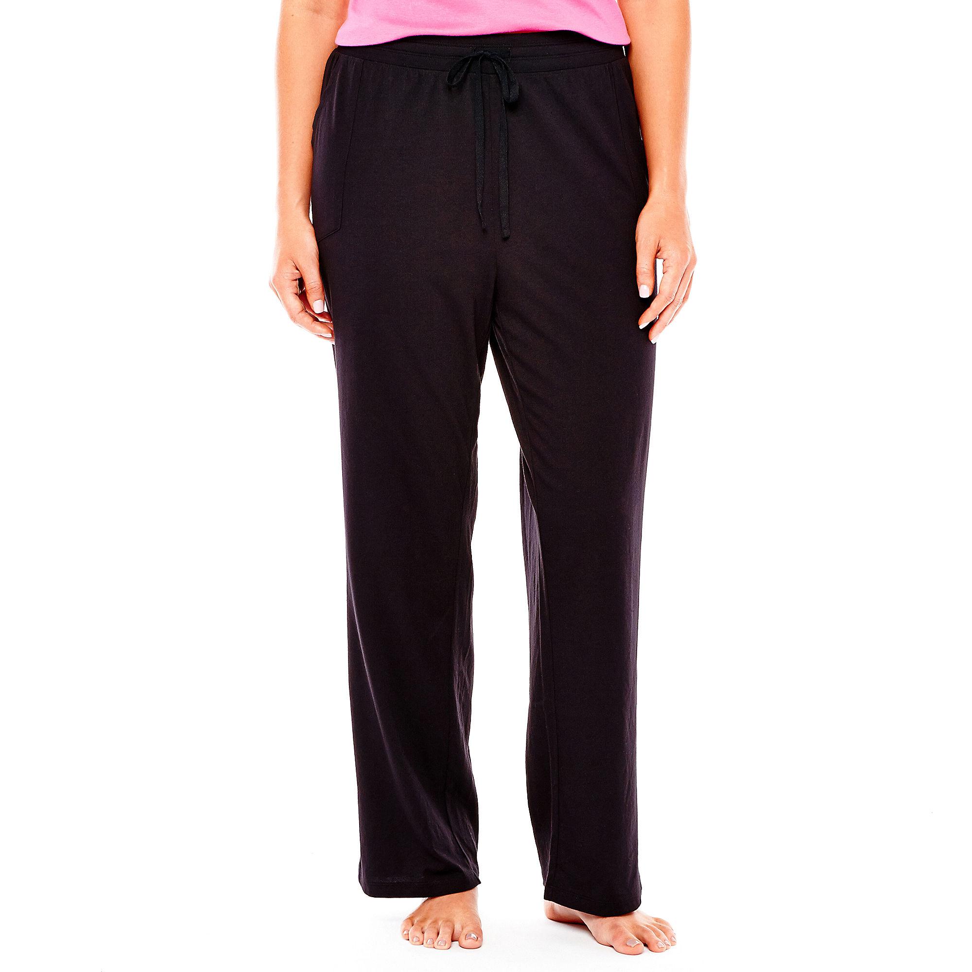 Sleep Chic Cotton Sleep Pants - Plus plus size,  plus size fashion plus size appare