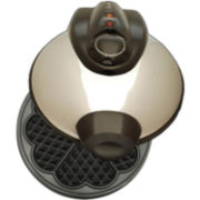 Euro-Cuisine® Heart Shaped Eco-Friendly Waffle Maker WM520