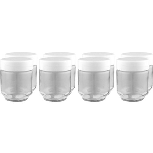 Euro-Cuisine® Set of 8 Glass Jars + Lids GY1920