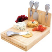 Picnic Time Asiago Folding Cheese Board with Tools