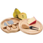 Picnic Time Brie Cheese Board with Tools