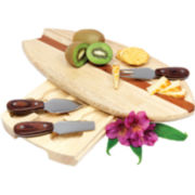 Picnic Time Surfboard Cheese Board with Tools