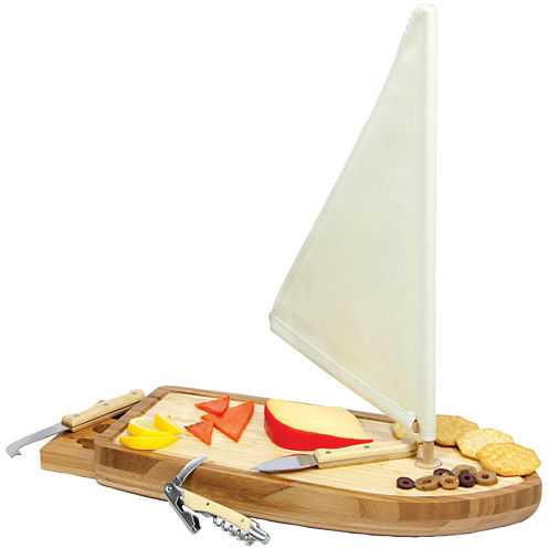Picnic Time® Sailboat Cutting Board with Tools