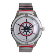 Womens Nautical Dial Strap Watch