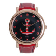 Womens Nautical-Themed Strap Watch