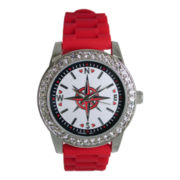Womens Compass Graphic Dial Leather Strap Watch