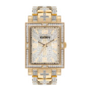 Elgin® Mens Crystal Accent Gold-Tone Bracelet Watch