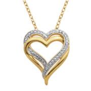 Diamond-Accent Double Heart Pendant Necklace
