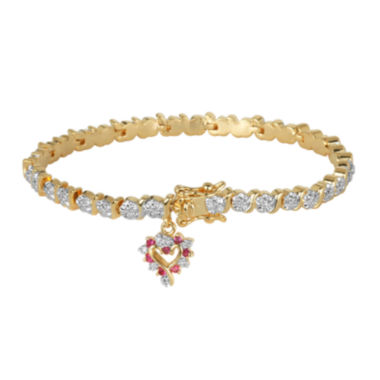 jcpenney.com | Classic Treasures™ Lab-Created Ruby and Diamond-Accent Tennis Bracelet
