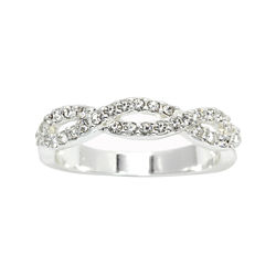 city x city® Cubic Zirconia Twisted Band Ring