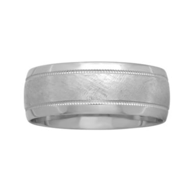 jcpenney.com |  Mens 8mm 10K White Gold Wedding Band