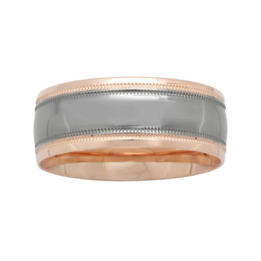 jcpenney.com |  Mens 8mm Wedding Band in Two-Tone Gold