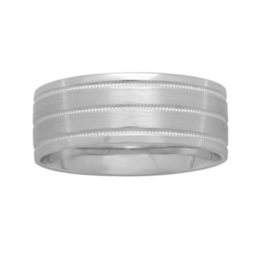jcpenney.com |  Mens 8mm Wedding Band in 10K White Gold