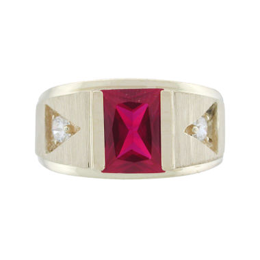 jcpenney.com | Rene Bargueiras® Mens Ruby 10K Two-Tone Gold Ring