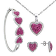 Crystal Heart 3-pc. Jewelry Set
