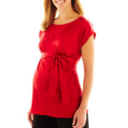 Maternity Satin Woven Top - Plus