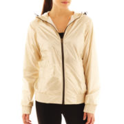 Xersion™ Full-Zip Smocked-Trim Hooded Jacket