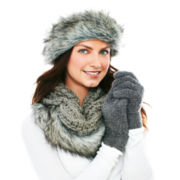 Mixit™ Faux-Fur Headband, Scarf and Fluffy Gloves