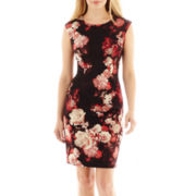 R&K Originals® Sleeveless Floral Print Scuba Dress