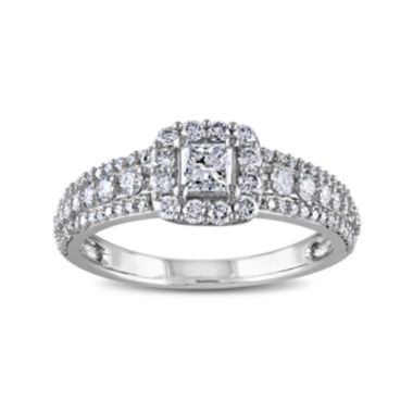 jcpenney.com | 1 CT. T.W. Diamond 14K White Gold Princess-Cut Ring