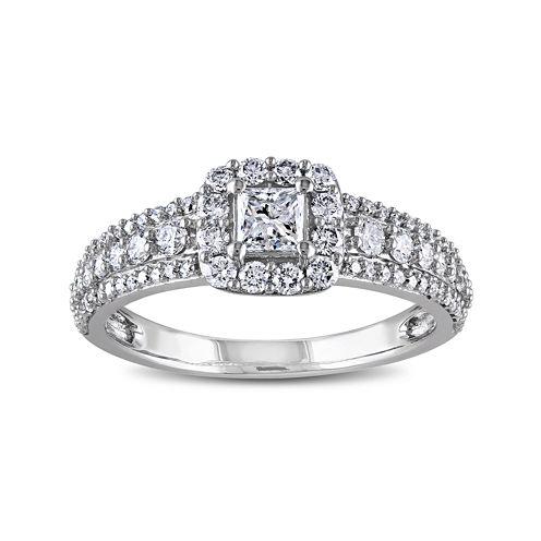 1 CT. T.W. Diamond 14K White Gold Princess-Cut Ring