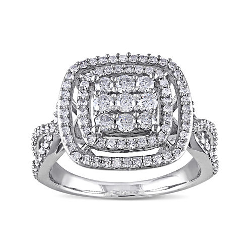 1 CT. T.W. Diamond 10K White Gold Ring