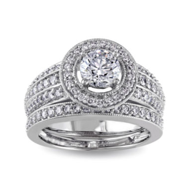 jcpenney.com | 1½ CT. T.W. Diamond 14K White Gold Bridal Ring Set