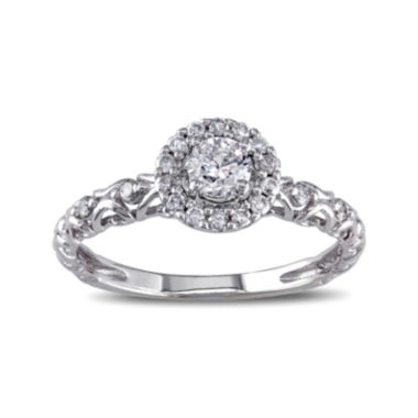 jcpenney.com | 1/2 CT. T.W. Diamond 14K White Gold Filigree Ring
