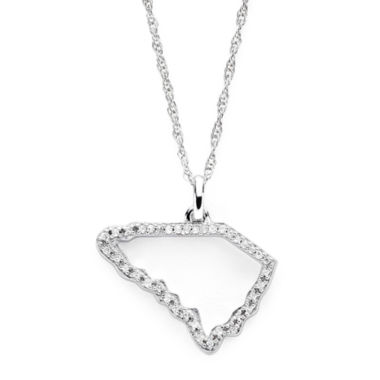 jcpenney.com | 1/10 CT. T.W. Diamond Sterling Silver South Carolina State Pendant Necklace