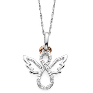 jcpenney.com | Infinite Promise 1/10 CT. T.W. Diamond Two-Tone Angel Pendant Necklace