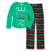 Sleep On It 2-pc. Holiday Pajama Set - Girls 7-16
