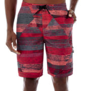 Nike® Frequency Fashion Patterns Swim Trunks