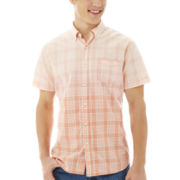 Arizona Short-Sleeve Dip-Dyed Woven Shirt