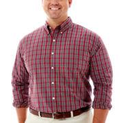IZOD® Long–Sleeve Tartan Plaid Shirt–Big & Tall
