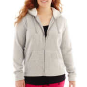 City Streets® Long-Sleeve Full-Zip Sherpa Hoodie - Plus